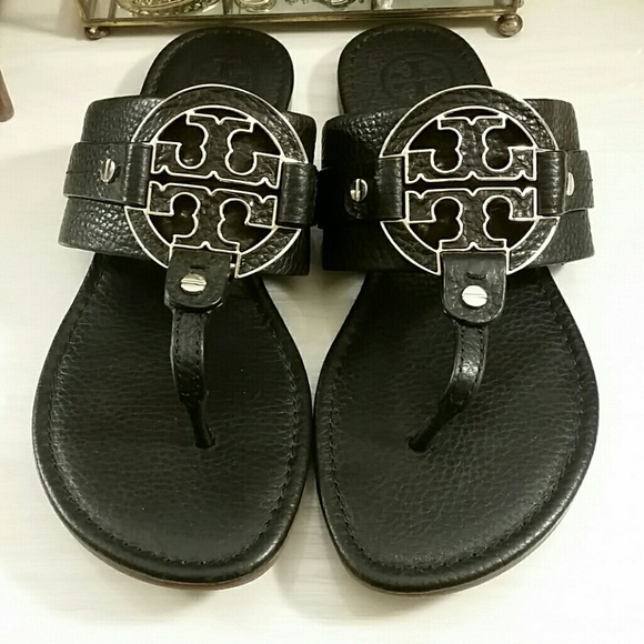 4449766ca Tory Burch Leather Amanda Sandals in Black   Gold.  M 5aaf09942c705d9e92db4607